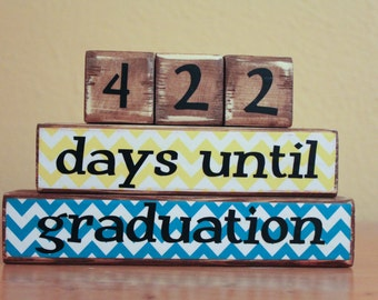 Gift College Graduation Countdown Unique Graduate Gift High School Graduate Countdown to Graduation Personalized Days Until Graduation Gift