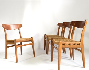 Set of four CH23 chairs, Hans Wegner, Carl Hanson and Son, 1950's.