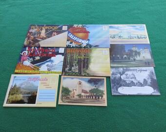 Vintage Souvenir Folding Post Cards from California Postcard Folders