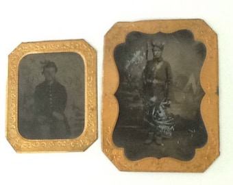 Union Civil War Soldier Tin Types! Extremely rare!!