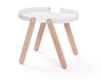 TEPSI - Puik - Design - Amsterdam - Beistelltisch - Tisch - Möbel - Interieur - Holz - Eschen - Stahl - Einfach - Wohnzimmer - Kaffee