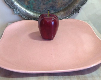 """12"""" inch square Chop plate, Russel Wright by Steubenville American Modern in Coral, made in the USA"""