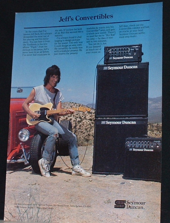 Jeff Beck plays with a Seymour Duncan convertible guitar
