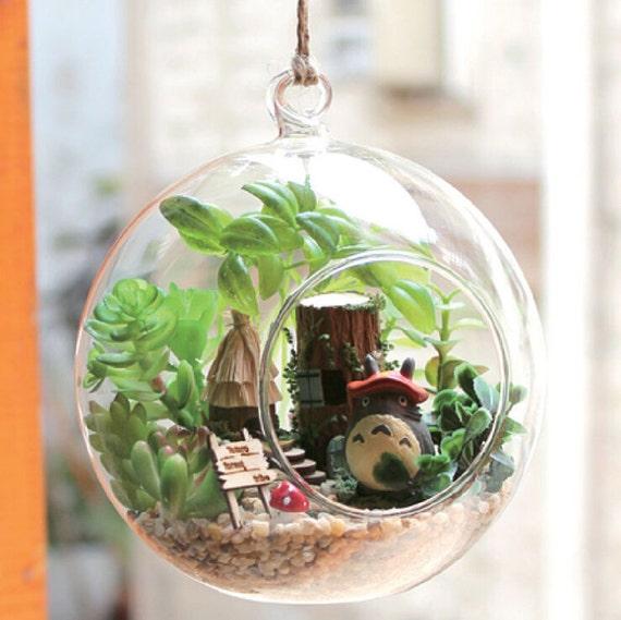 Diy 12cm hanging glass terrarium kit diy glass house glass - Kit terrarium plante ...