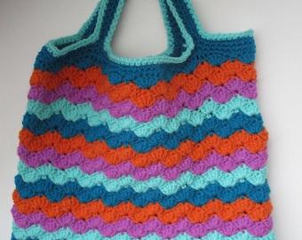Hand Crocheted shopping/beach bag