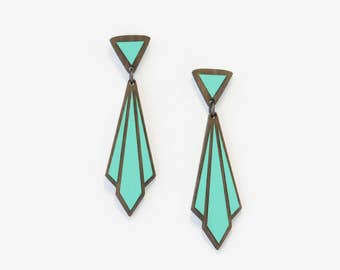 ÉCHARPE TEAL, Art Deco Collection by Materia Rica