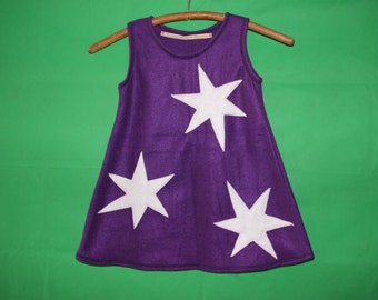 girl enrobing dress ster fleece dress stars