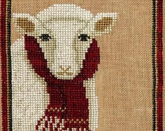 "TERESA KOGUT ""For Ewe""   Counted Cross Stitch Pattern   Sheep, Lamb, Scarf"