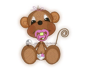 Embroidery Monkey JR 4x4 Instant Download