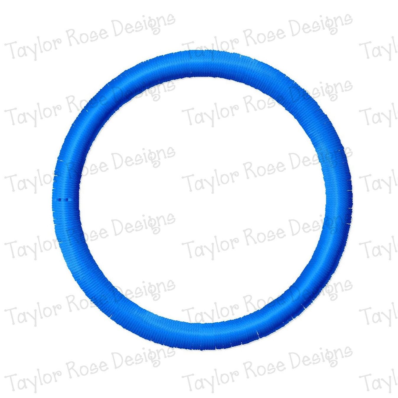 Diseño de círculo bordado de máquina de apliques de 1 x 1 2 x