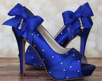 Dr Who Wedding, Dr Who Wedding Shoes, Blue Wedding Shoes, Custom Wedding Shoes, Blue Wedding, Dr Who, Dr Who Ideas, Wedding Shoes