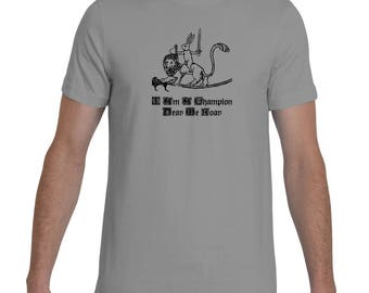Medieval Champion Bunny Knight and Lion Steed Shirt By The Arabesque
