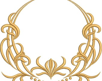Instand download  Monogram Circle Pattern embroidery design