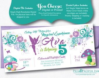 Fairytale Invitations | Tinkerbell Invites | Fairy Party Invites | Magical | Invitations | Magical Invites