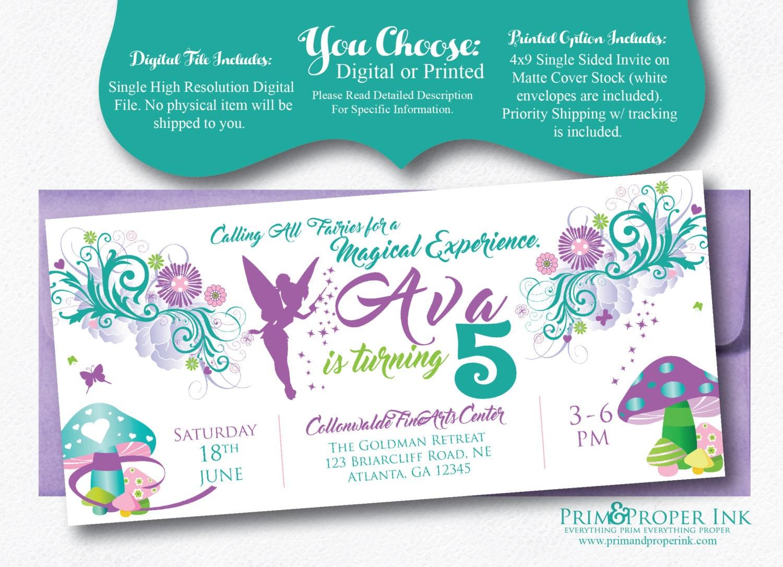 Fairytale Invitations   Tinkerbell Invites   Fairy Party Invites ...