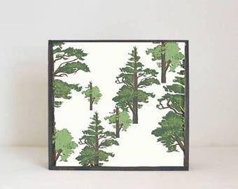 woodland nursery art- texas pine tree art print- forest decor- nursery woodland art- tree print- nursery forest -tree decor- redtilestudio