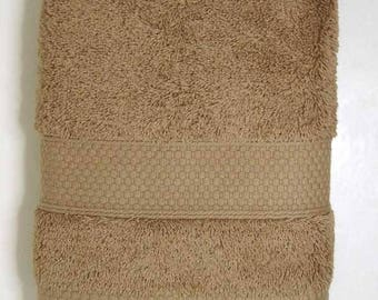 50x90cm towel cotton Terry color Otter / Taupe