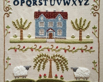 Crewel Sampler Embroidery Pattern and Kit