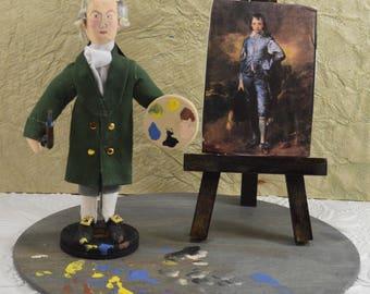 Thomas Gainsborough Portrait Painter Miniature Diorama Scene Art History