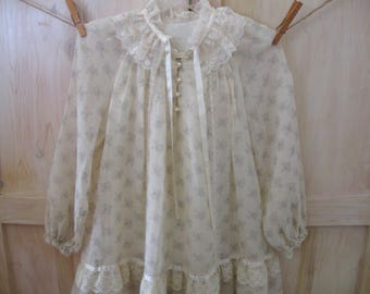 Girl's Gunne Sax Dress 5T 6X, Girl's Vintage Amish Prairie Dress, 5 and 6 Year Flower Girl Photo Shoot Dress 1970s, Jessica San Francisco