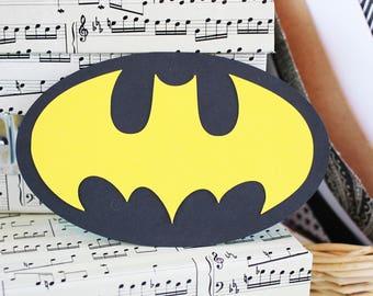 Set of 2, Batman Die Cuts, Bat Die Cuts, Superhero Die Cuts, Batman Scrapbook, Boys Birthday, Girls Birthday, Batgirl, Halloween Scrapbook