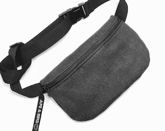 Black Fanny Pack, Black Belly bag, Bum bag, Belly Bag, Vegan Fanny pack , waist pack , Hands free, Festival fanny pack , Cute Bum bag