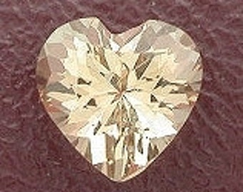 5mm heart champagne topaz gem stone gemstone