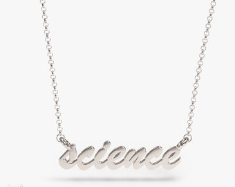 science jewelry: silver science necklace - 3D printed science pendant - wearable biology - PhD - nature -