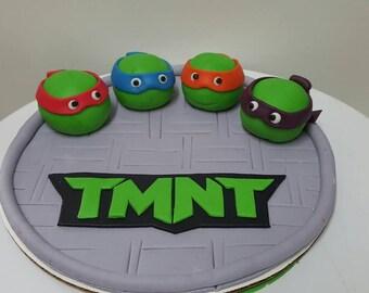 Tmnt cake topper Etsy