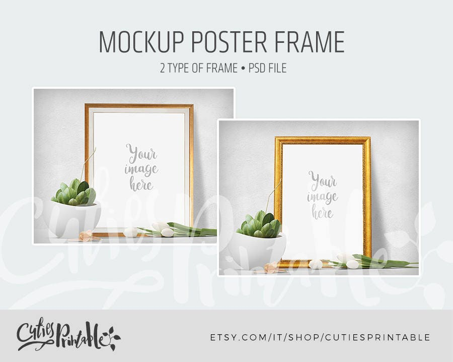 Mockup Poster geschichtet Rahmen Instant Download PSD