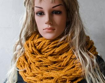 Infinity Arm Knit Infinity Scarf