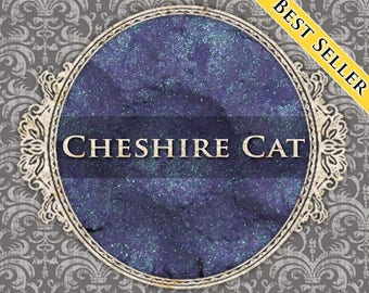 CHESHIRE CAT Shimmer Eyeshadow: Samples or Jars, Violet Blue w/Purple Duochrome, Loose Powder Eyeshadow, VEGAN Makeup, Ships Out in 5-8 Days