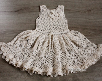 Crochet dress. Pattern No 14