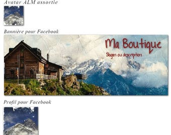 """Banner and avatar """"Mountain"""" shop and Facebook"""