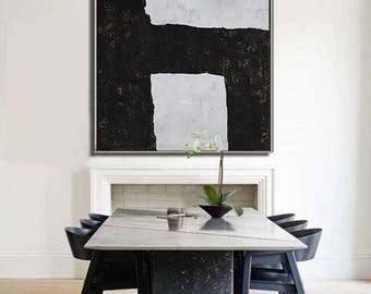 Abstract painting Large Canvas Art, Minimalist Abstract Art, hand painted acrylic painting on canvas - Ethan Hill Art No.H65S