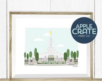 Columbia River Washington Temple | Poster | Print | Inspirational | LDS Temple