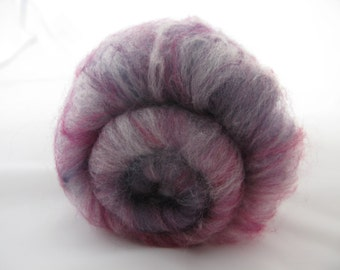 Merino Batts 100g Berry/Luxury Spinning Fiber/Purple Magenta Fuschia Violet Merino/Felting Wool