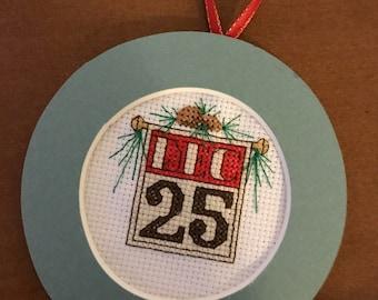 Dec 25 Cross Stitch Ornament