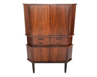 Danish Modern Mid Century Atomic Rosewood Corner Cabinet #2