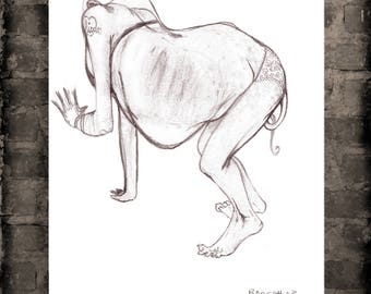DAFNEE 4 EVER A figure drawing print,from the Bodyscape series.