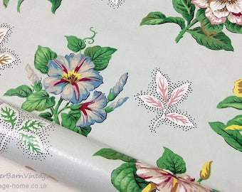 1940s Gorgeous Floral Chintz Fabric