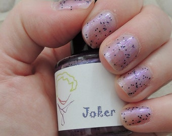 Joker Inspired Nail Polish