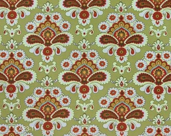 Amy Butler Belle Green French Wallpaper fabric - 1 Yard