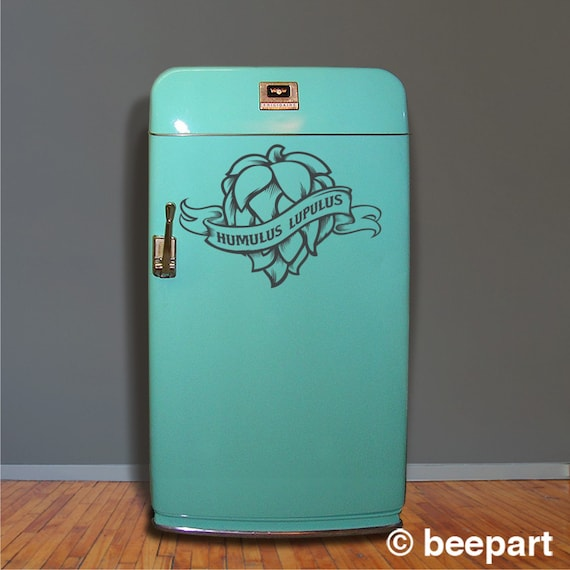 Craft beer fridge decal hops kegerator vinyl sticker mini