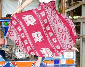 Red hood Long skirt Boho skirt Hippie skirt Elephant skirt Harem skirt Gypsy skirt