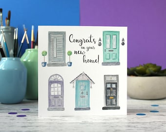 New House card, New Home card, First home card, congratulations card, celebration card
