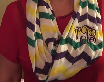 Mardi Gras Infinity scarf
