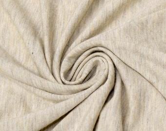 Light Oatmeal Medium Weight Rayon Spandex Jersey Knit Fabric by the Yard - 1 Yard Style 409
