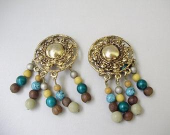 Vintage earrings,,vintage funky jewelry