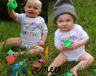 Play On Playa, Funny Baby Clothes, Funny Baby Shirt, Funny Toddler Clothes, Funny Toddler Shirt, Funny Baby Gift, Gender Neutral